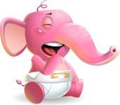 Baby Elephant Vector Cartoon Character - Feeling Bored