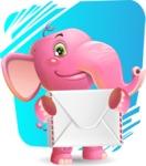Baby Elephant Vector Cartoon Character - Shape 11