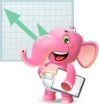 Baby Elephant Vector Cartoon Character - Shape 6