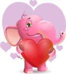 Baby Elephant Vector Cartoon Character - Shape 7