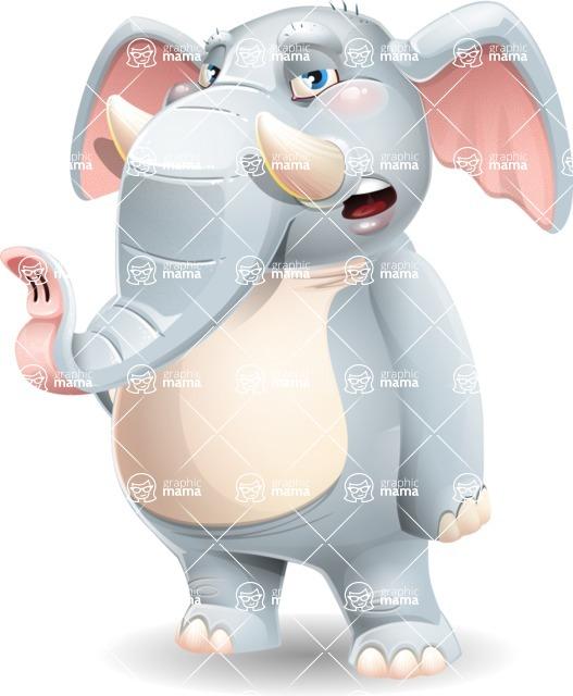 Elephant Cartoon Vector Character - Feeling Bored