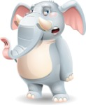 Elephant Cartoon Vector Character - Feeling Bored