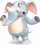 Elephant Cartoon Vector Character - Feeling Lost