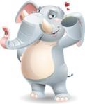 Elephant Cartoon Vector Character - Making a Duckface for a selfie
