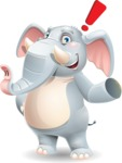 Elephant Cartoon Vector Character - Making a point