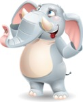 Elephant Cartoon Vector Character - Making Funny face