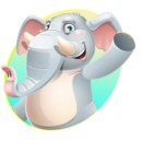 Elephant Cartoon Vector Character - Shape 1