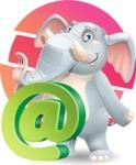 Elephant Cartoon Vector Character - Shape 10