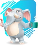 Elephant Cartoon Vector Character - Shape 11