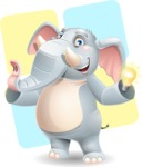 Elephant Cartoon Vector Character - Shape 12