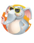Elephant Cartoon Vector Character - Shape 2