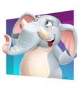 Elephant Cartoon Vector Character - Shape 3