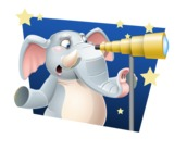 Elephant Cartoon Vector Character - Shape 4