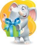 Elephant Cartoon Vector Character - Shape 5