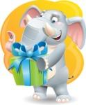 Elephant Cartoon Vector Character - Shape 5