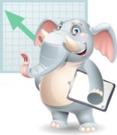 Elephant Cartoon Vector Character - Shape 6