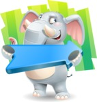 Elephant Cartoon Vector Character - Shape 8