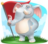 Elephant Cartoon Vector Character - Shape 9