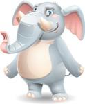 Elephant Cartoon Vector Character - Smiling