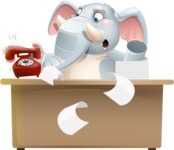 Elephant Cartoon Vector Character - Stressed out