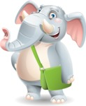 Elephant Cartoon Vector Character - Traveling