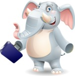 Elephant Cartoon Vector Character - with Briefcase