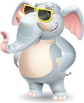 Elephant Cartoon Vector Character - with Sunglasses