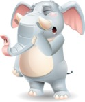 Elephant Cartoon Vector Character - Yawning