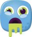 The Cute Zombi Emoji
