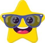 The Hipster Star Emoji