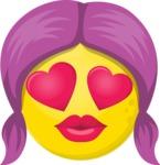 The Girl in Love Emoji