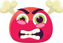 The Red Angry Emoji