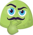 The Thoughtful Moustache Emoji