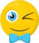 The Stylish Winking Emoji
