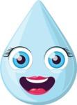 The Happy Raindrop Emoji
