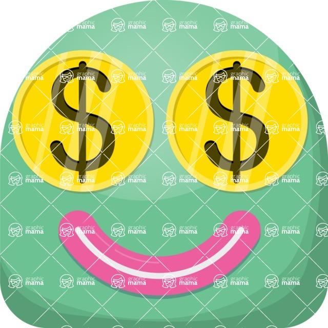 Vector Emoji Creator - The Money Lover Emoji