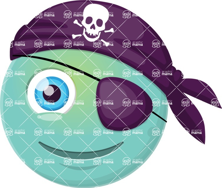Vector Emoji Creator - The Friendly Pirate Emoji