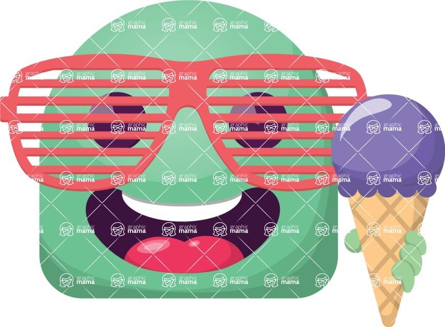 Vector Emoji Creator - The Energetic Summer Emoji