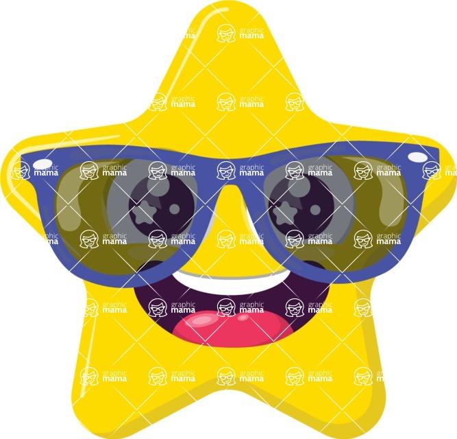 Vector Emoji Creator - The Hipster Star Emoji