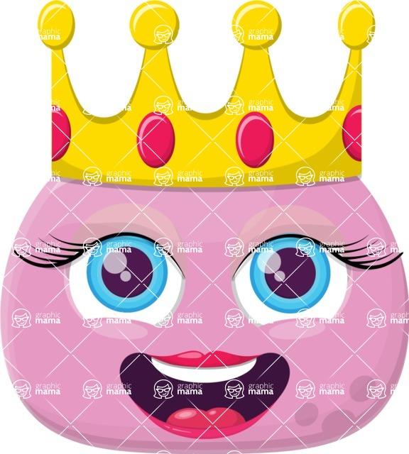 Vector Emoji Creator - The Pink Princess Emoji