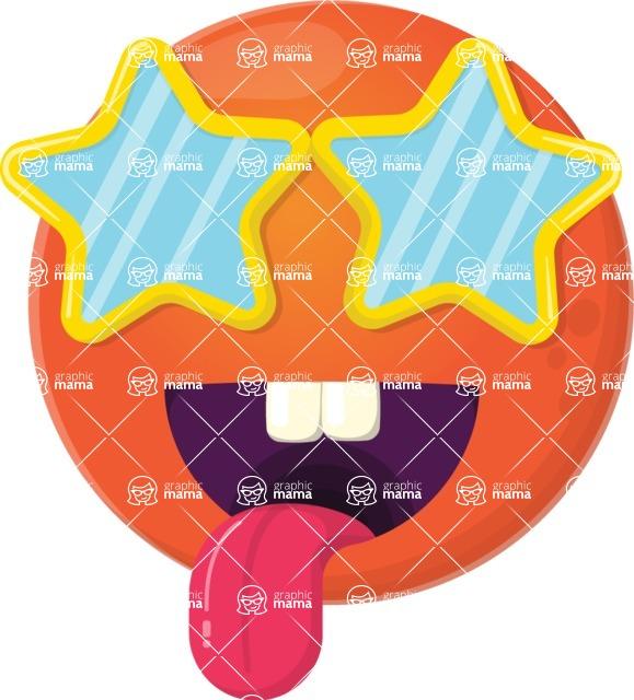 Vector Emoji Creator - The Crazy Starry Emoji