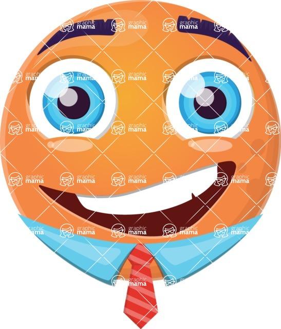 Vector Emoji Creator - Happy Guy Orango