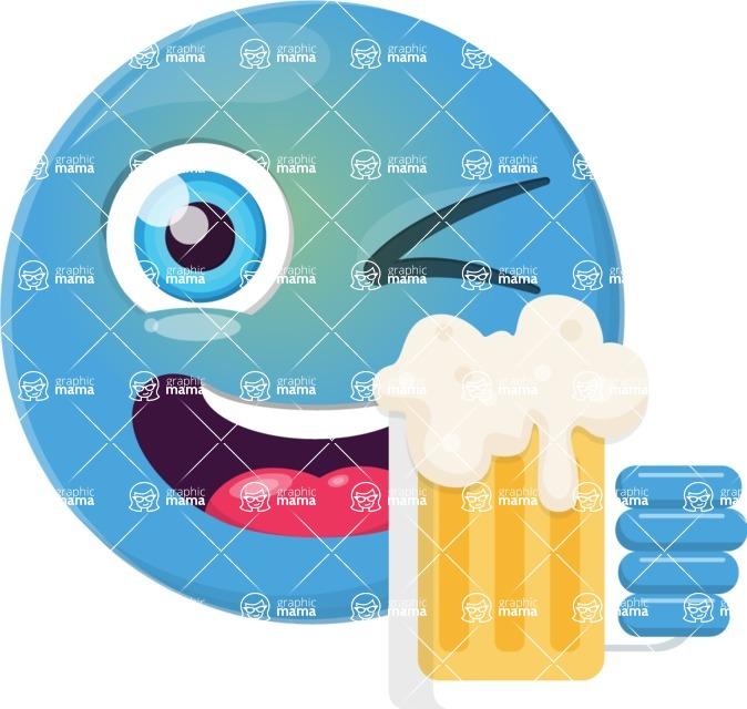 Vector Emoji Creator - The Cheers Emoji