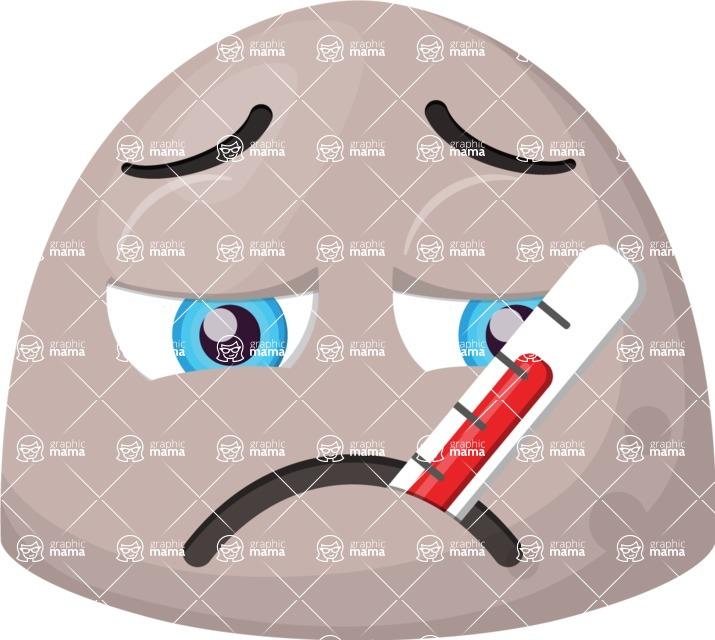 Vector Emoji Creator - The Poor Sick Emoji