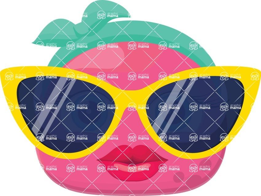 Vector Emoji Creator - Miss Fashion Icon