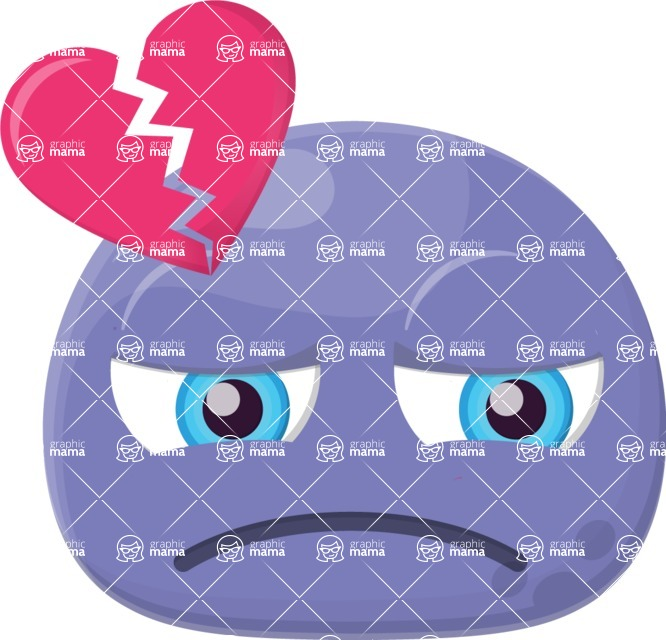 Vector Emoji Creator - The Heartbroken Emoji