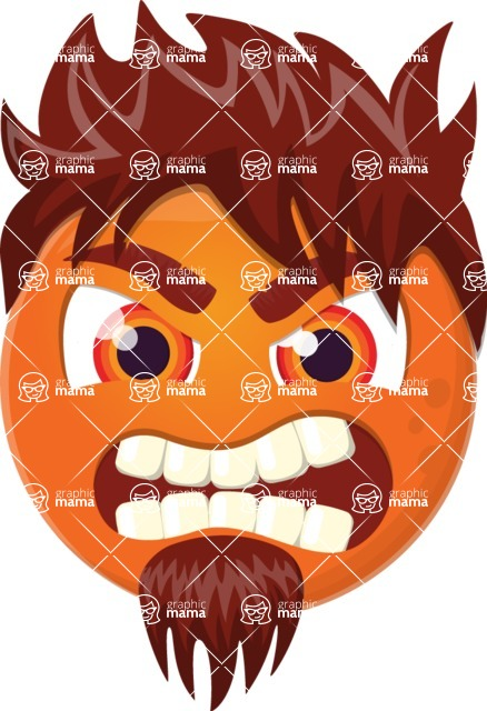 Vector Emoji Creator - The Emotional Rocker Emoji