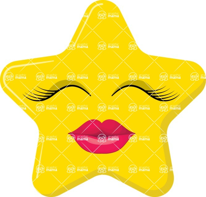 Vector Emoji Creator - The Kissing Star Emoji