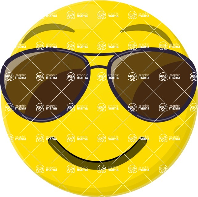 Vector Emoji Creator - The Cool Kid Emoji
