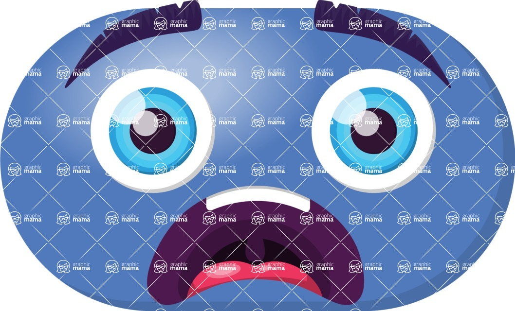 Vector Emoji Creator - The Big Scared Emoji